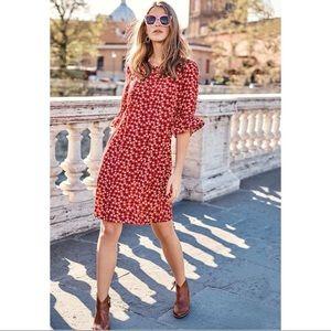 Boden Red Hyacinth Day Dress